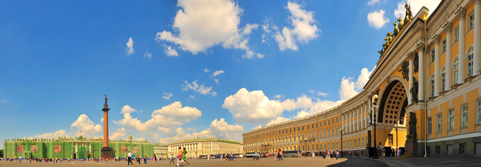 Palace Square in Saint Petersburg, Russia.