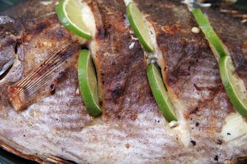 grilled fish skin food