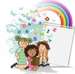 Girls who read Rainbow