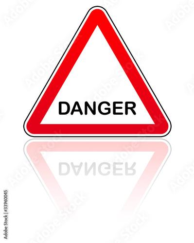 panneau attention danger photo libre de droits sur la banque d 39 images image 33960045. Black Bedroom Furniture Sets. Home Design Ideas
