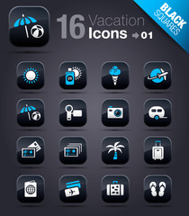 Black Squares - Vacation icons