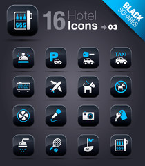 Black Squares - Hotel icons