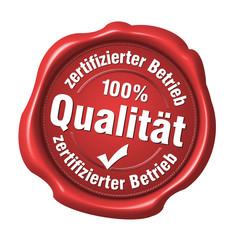 zertifizierter betrieb 100% qualität