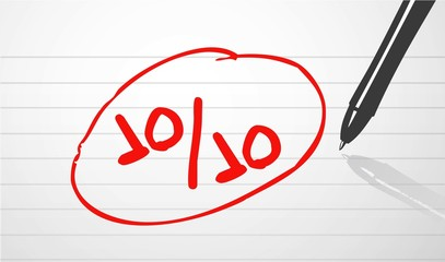 perfect score concept illustration design