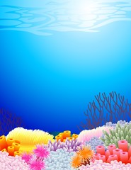Aluminium Prints Submarine beautiful sealife back