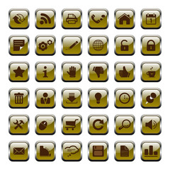 36 Vector Icons - Buttons