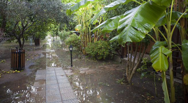 Tourist Resort after heavy Rainfall