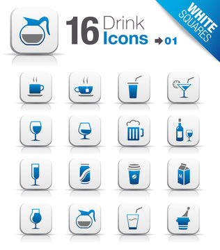 White Squares - Drink Icons
