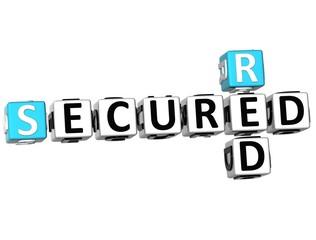 3D Secured Red Crossword
