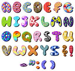 Patterned alphabet