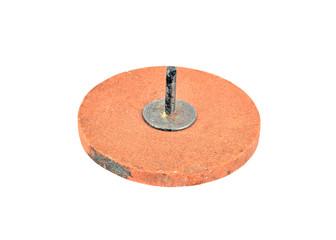 Grinding and cutting disc, isolated on a white background