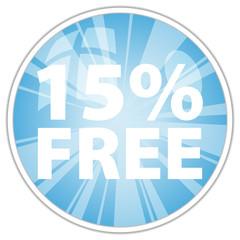 15% free label