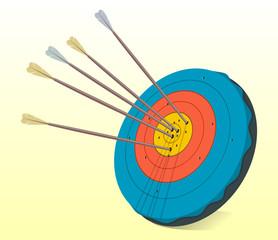 Vintage Target and Arrows