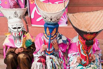 Thai mask festival.