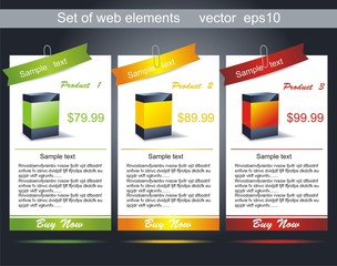 Web banners. Easy to change size.