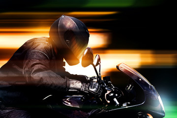 Motorbike at Night