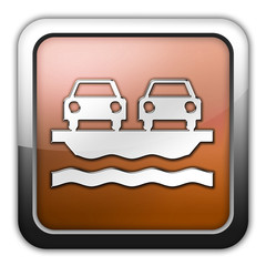 "Bronze Glossy Square Icon ""Vehicle Ferry"""
