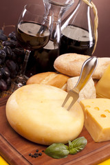 Cheese and other ingredients