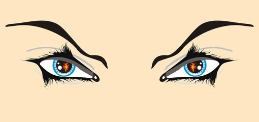Eyes with a spark