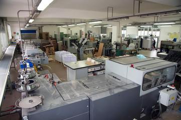 Post press finishing line machine