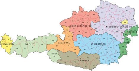 Österreich KFZ-Kennzeichen