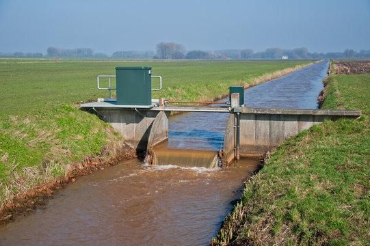 Weir in a ditch