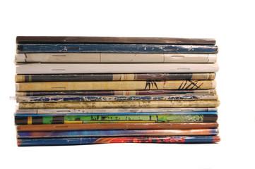 stack of workbooks isolated-2