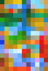 multicolored pixels
