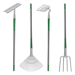 Rakes Hoe and Pitchfork