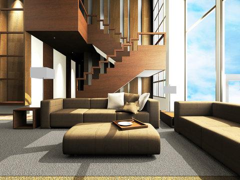 Sofa area of a modern living room
