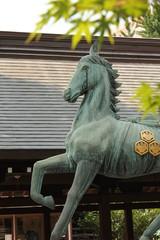 馬のブロンズ像