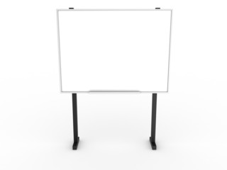 Empty clean white board office on a white background №1