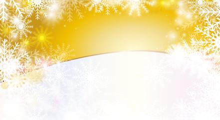 hintergrund gold - schneeflocken