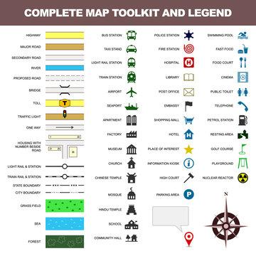 map icon legend symbol sign toolkit element