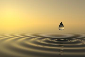 Fototapete - Zen drop falls into the water