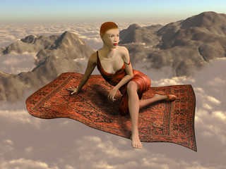 Flying a magic carpet over the clouds