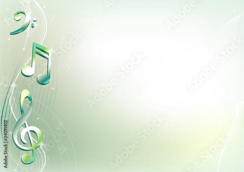 Музыка нотки фоны для презентаций