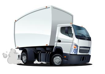 vector cartoon delivery / cargo truck