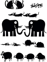 Pairs of animals