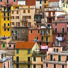 Colourful texture of  Manarola village of Cinque Terre - Italy.