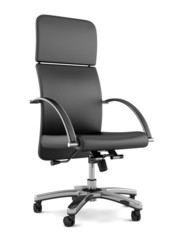 modern black office chair isolated on white background
