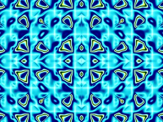 Light blue pattern fractal - wallpaper