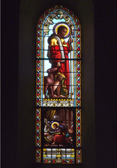 Eglise Espalion Aveyron vitrail
