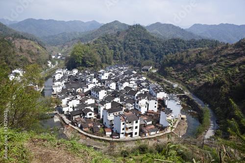 modern village in wuyuan jiangxi china Stock photo and royalty