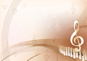 Musical beige background