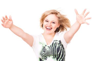 junge begeisterte Frau