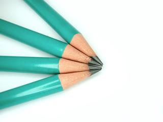 macro shot on pencil head