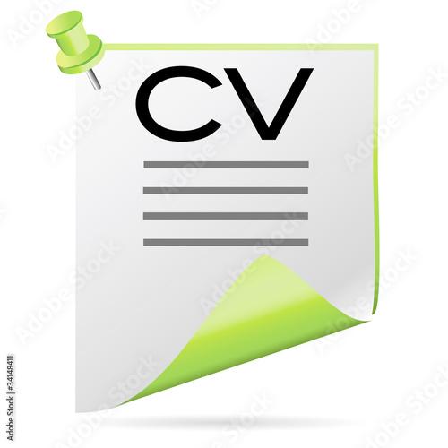 u0026quot ic u00f4ne cv vert u0026quot  fichier vectoriel libre de droits sur la banque d u0026 39 images fotolia com