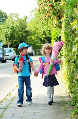 Auf dem Weg zur Schule