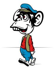 cartoon monkey walk